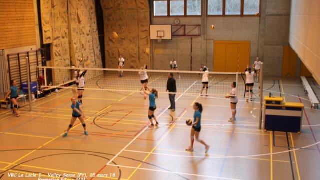 Le Locle I - Volley Sense, 25 mars 2018